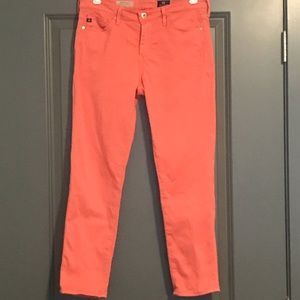 AG Orange Prima Crop Cigarette Jeans